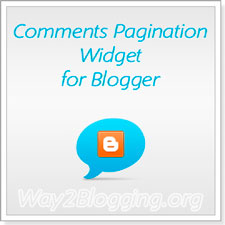 New Comments Page Navigation Widget for Blogger / Blogspot