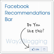 Official Facebook Recommendations Bar Widget for Blogger / Blogspot