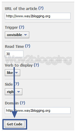 Official Facebook Recommendations Bar Widget for Blogger / Blogspot step five