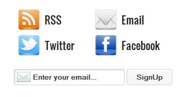 Way2Blogging's Social Subscription Widget for Blogger / Blogspot Preview